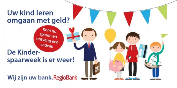 RegioBank Kinderspaarweek van woensdag 24 t/m 31 oktober 2018